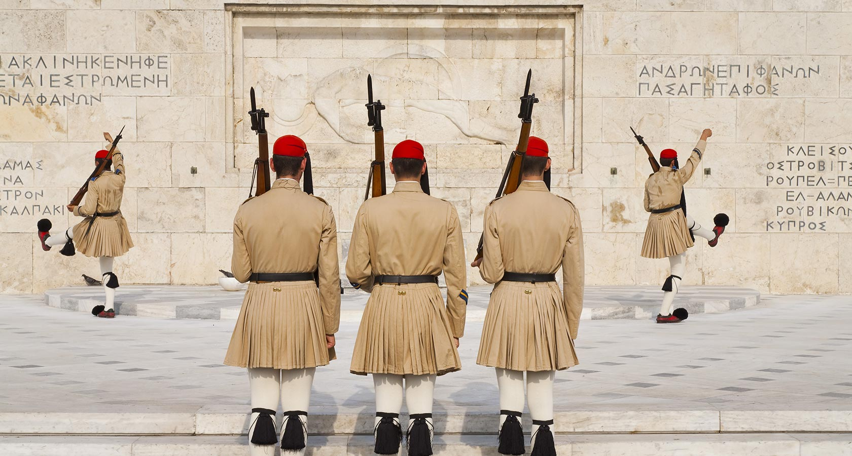 Ceremonial Changing Guards at Syntagma Athens Greece – Greek Parliament