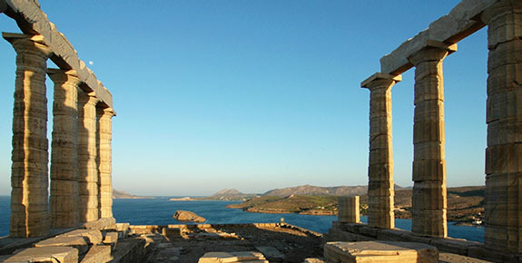 Poseidon Ruins at Cape Sounion in Athens Greece
