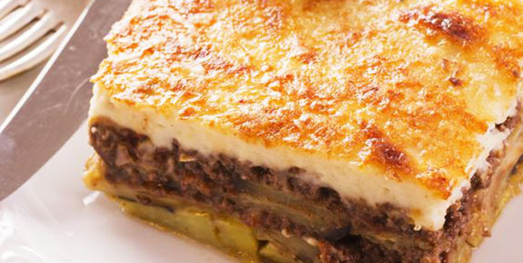 The famous Greek Mousaka